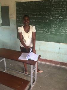Please meet teacher Bridget. A very dedicated teacher, from the very beginning of the Linda Blind Farm School